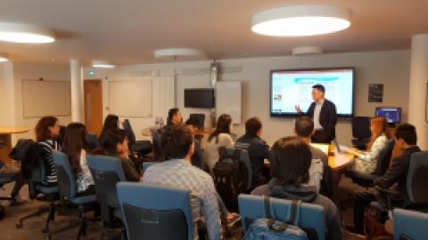 """""""一带一路""""与中美贸易战背景下的中国开放战略专题讲座在爱丁堡大学顺利举办"""