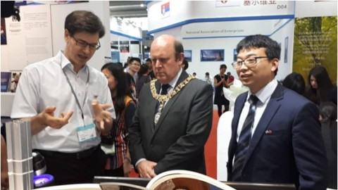博士联盟主席马江涛陪同英国爱丁堡市长参观深圳国际创意产业孵化中心