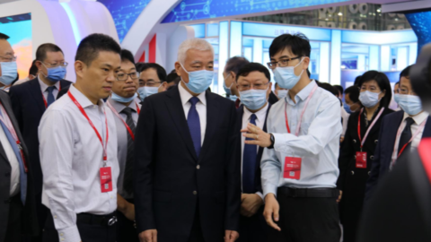 博联新闻|墨影科技参展CIEP,科技部王志刚部长莅临现场参观指导